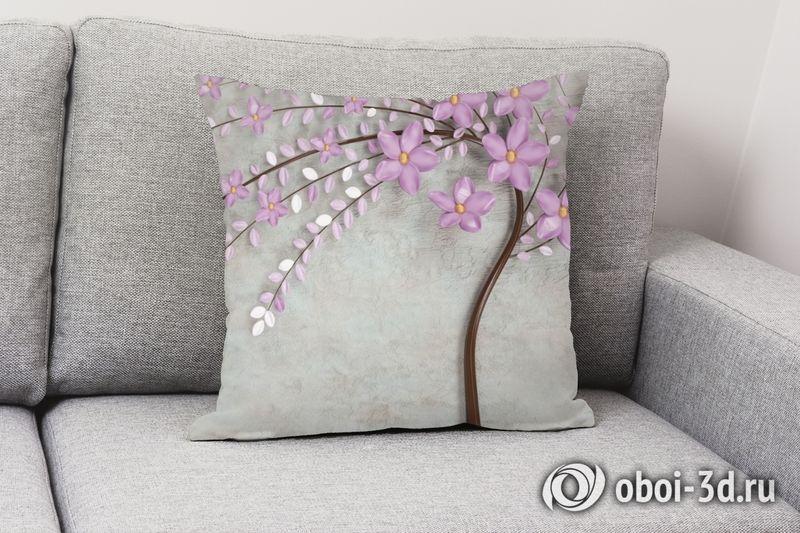 3D Подушка «Весенняя сакура» вид 3