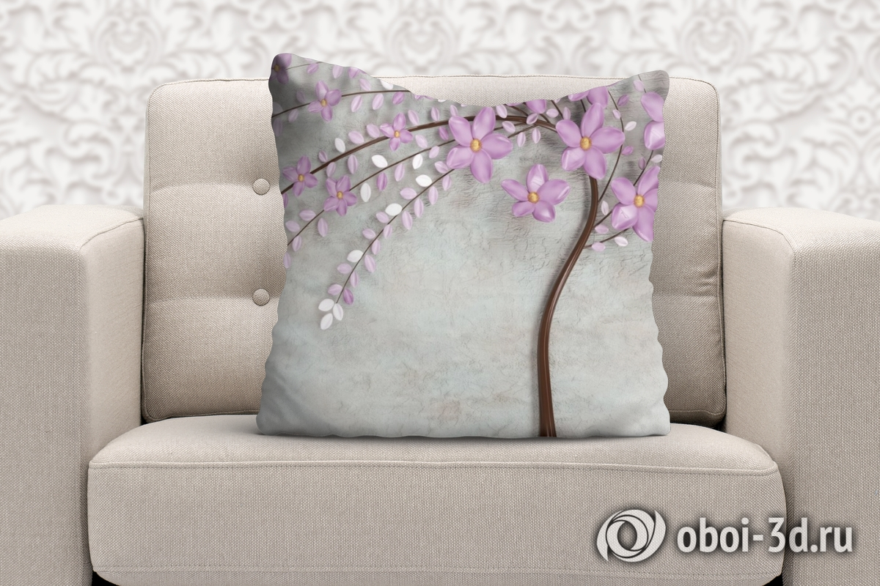 3D Подушка «Весенняя сакура» вид 2