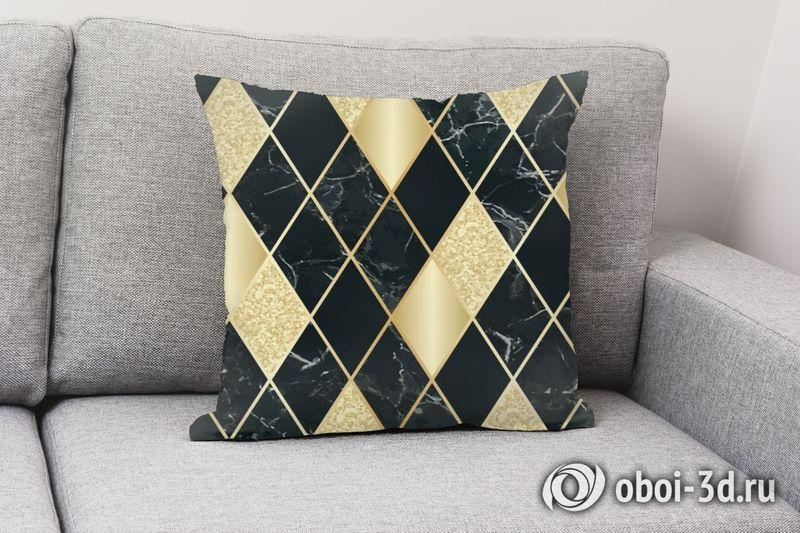 3D Подушка  «Золотой блеск» вид 3