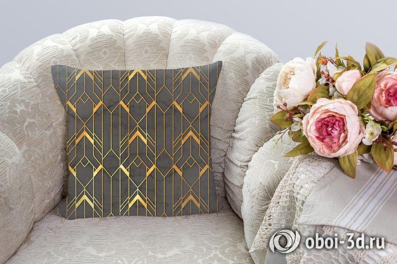 3D Подушка  «Золотые нити» вид 2