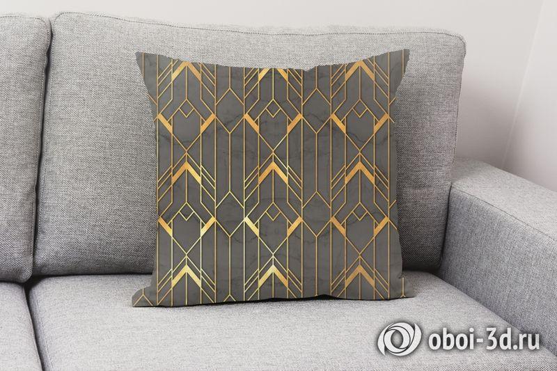 3D Подушка  «Золотые нити» вид 3