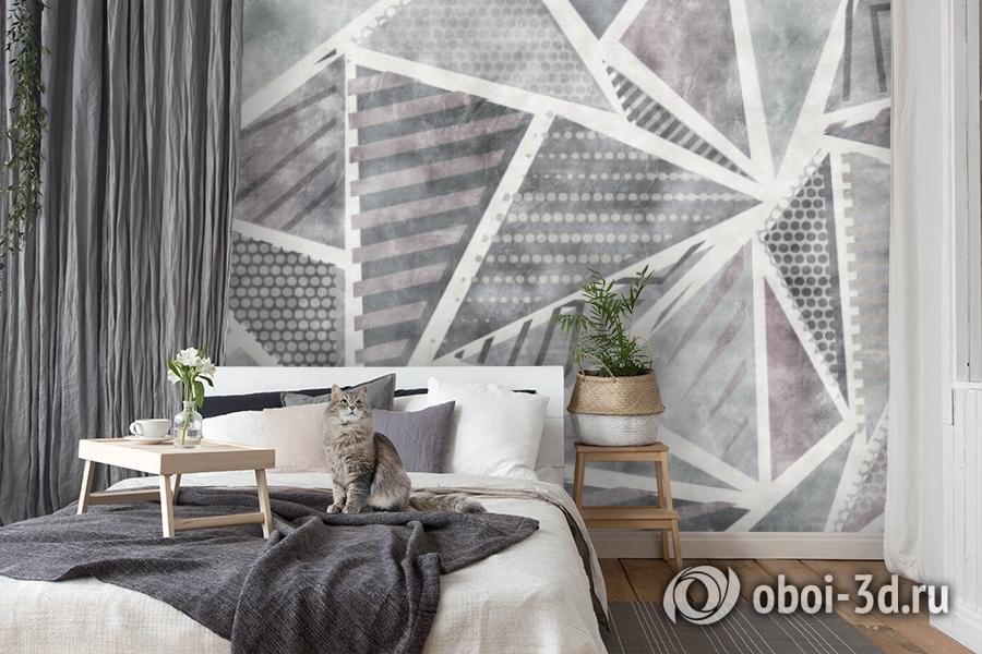 3D Фотообои «Стильные треугольники» вид 8