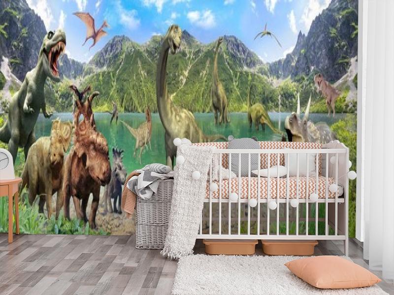 3D Фотообои «Динозавры» вид 3