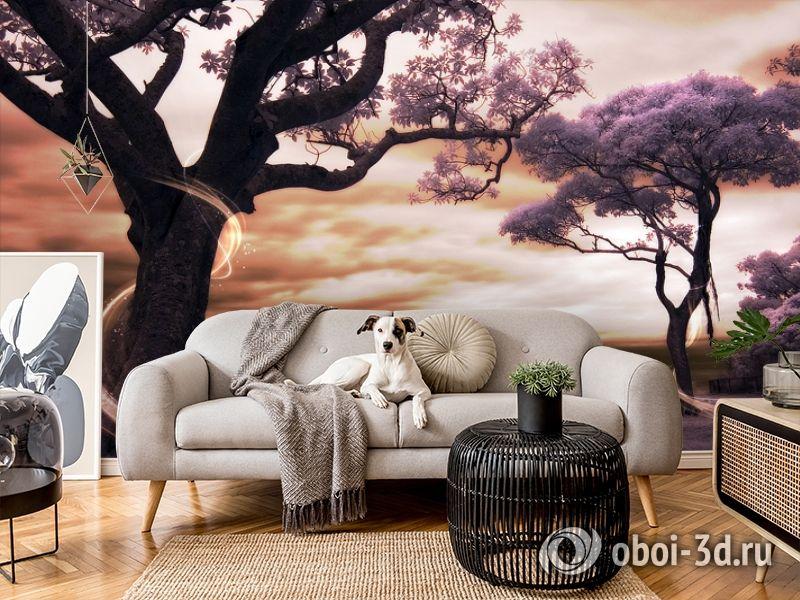 3D Фотообои «Фиолетовые деревья» вид 4