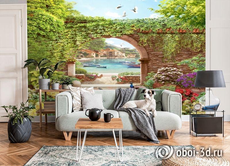 3D Фотообои «Павлины в саду» вид 6