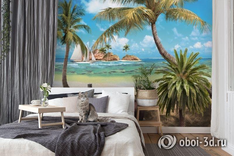 3D Фотообои «Берег океана» вид 7