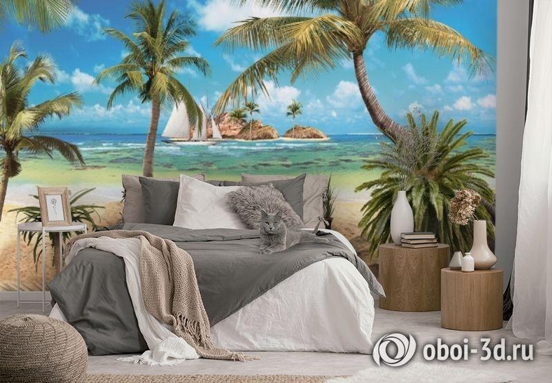 3D Фотообои «Берег океана» вид 2