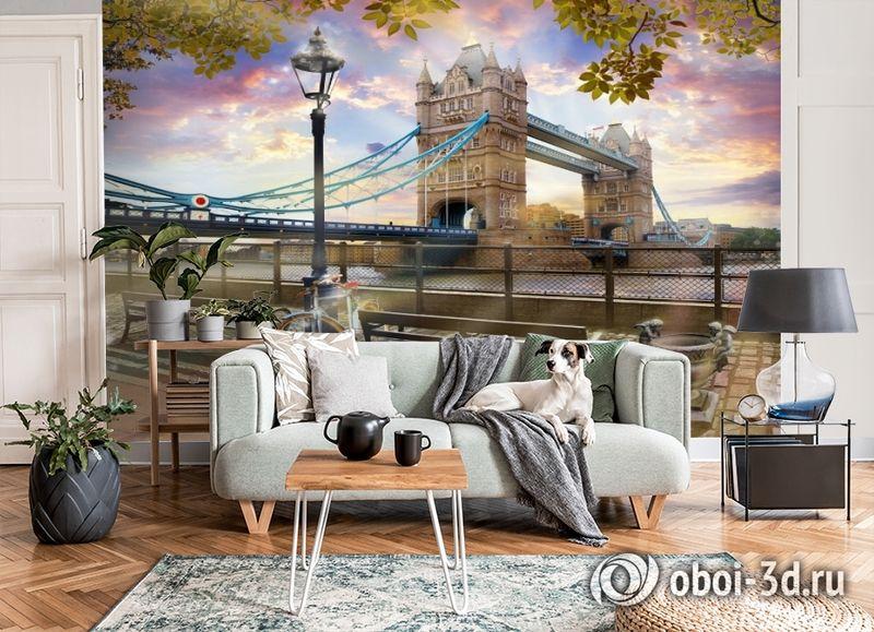 3D Фотообои «Тауэрский мост» вид 6