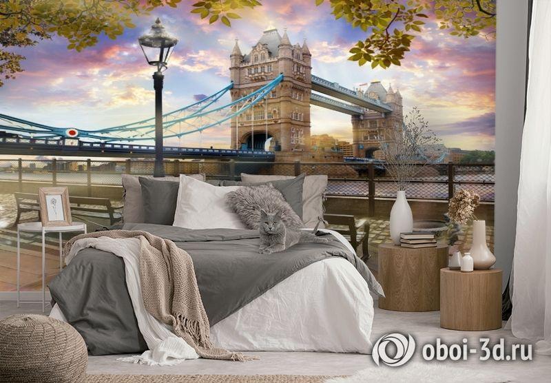 3D Фотообои «Тауэрский мост» вид 2