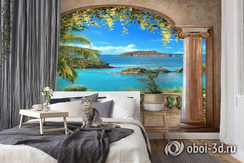 3D Фотообои «Лазурное побережье» вид 7