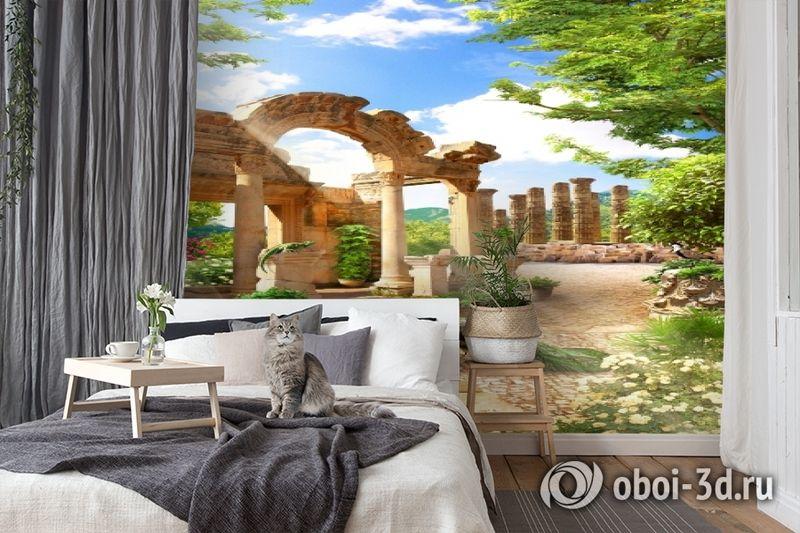 3D Фотообои «Развалины в саду» вид 7