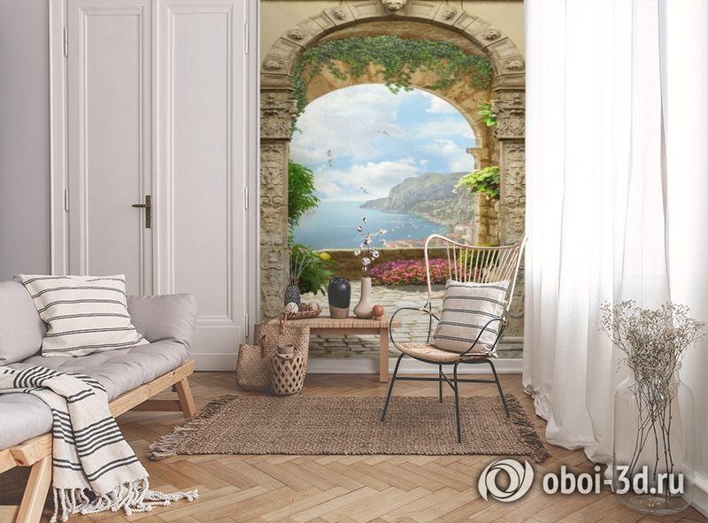 3D Фотообои «Двойная арка» вид 9