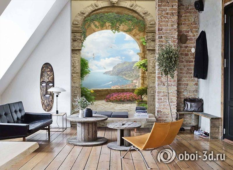 3D Фотообои «Двойная арка» вид 7