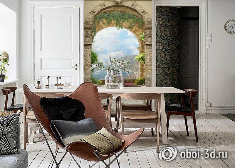 3D Фотообои «Двойная арка» вид 6