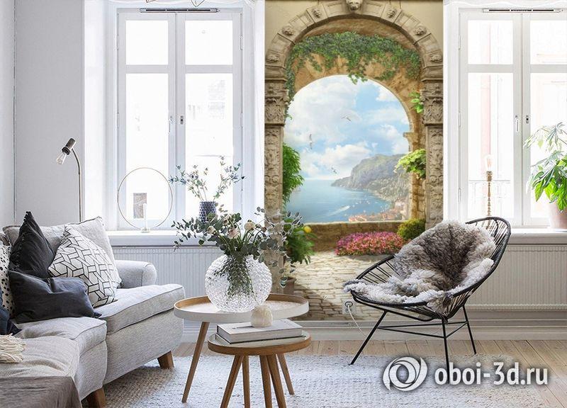 3D Фотообои «Двойная арка» вид 4