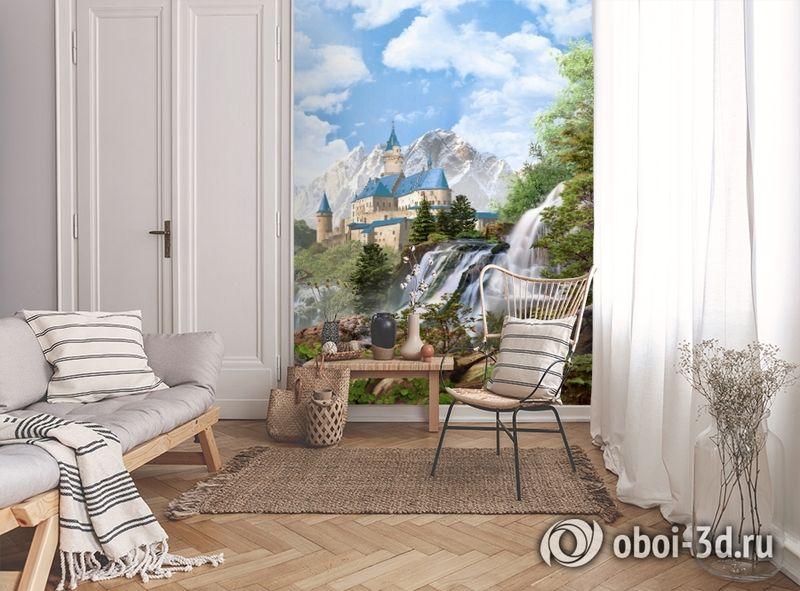 3D Фотообои «Замок в скалистых горах» вид 9