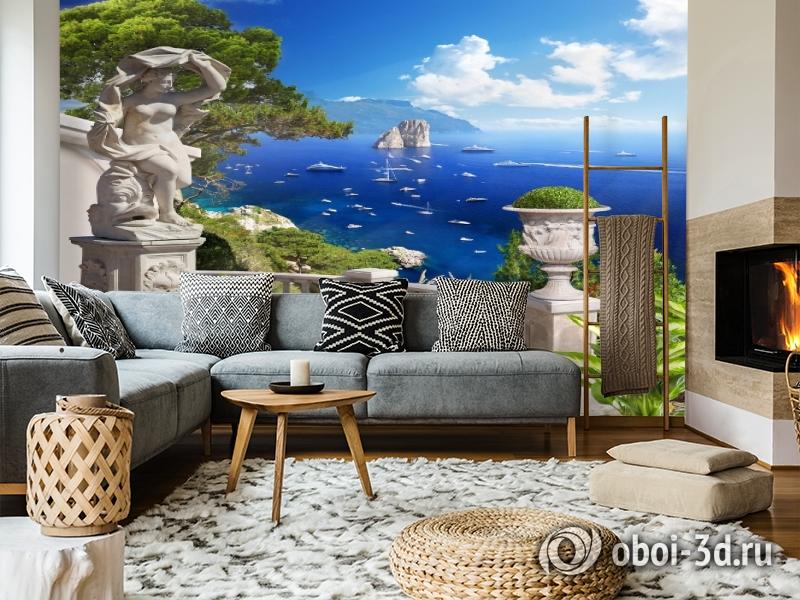 3D Фотообои «Бесконечно синее море» вид 5