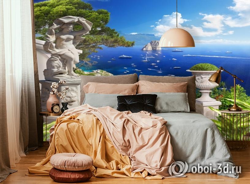 3D Фотообои «Бесконечно синее море» вид 4