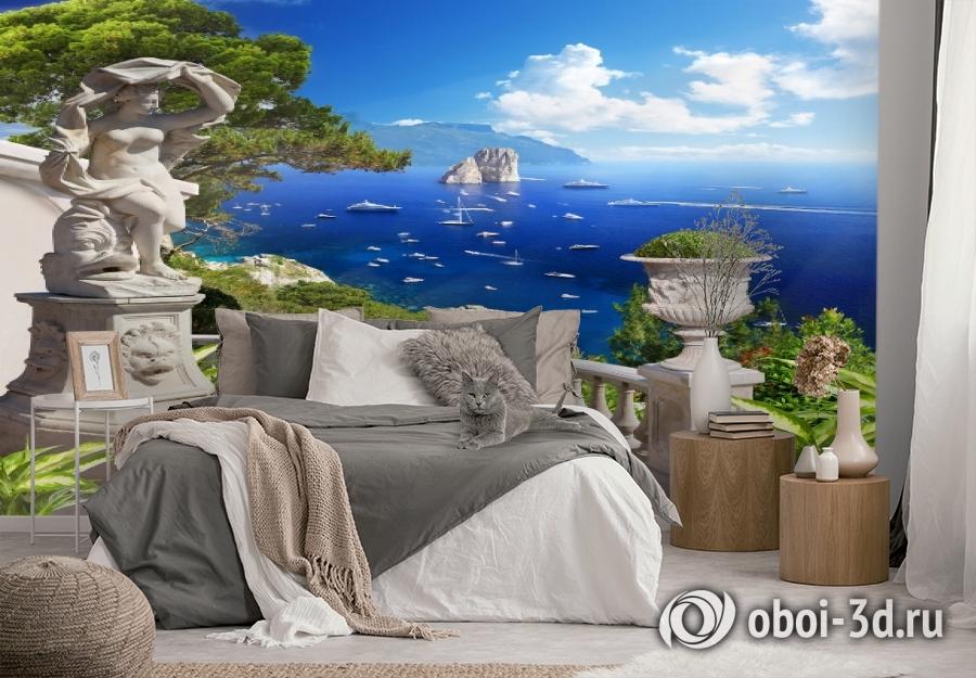 3D Фотообои «Бесконечно синее море» вид 2