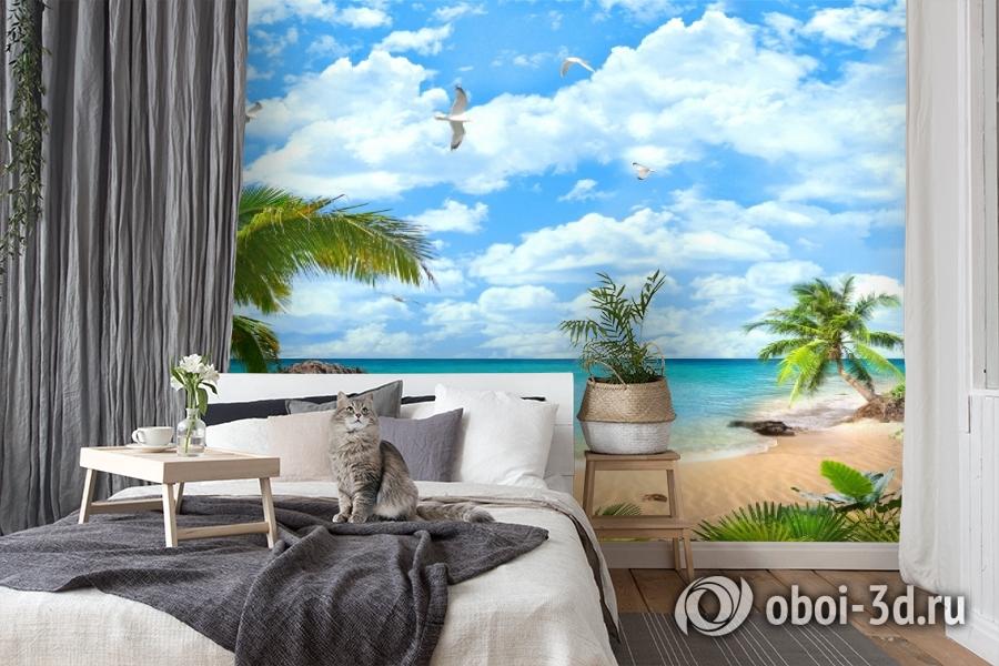 3D Фотообои «Лазурный пляж» вид 7