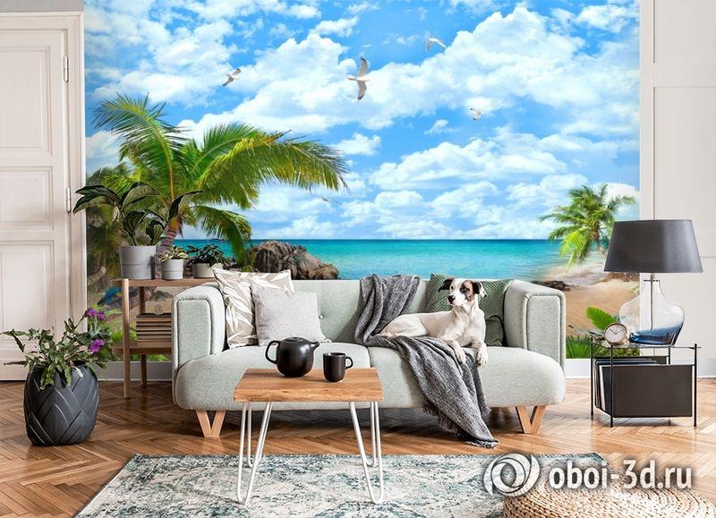 3D Фотообои «Лазурный пляж» вид 6