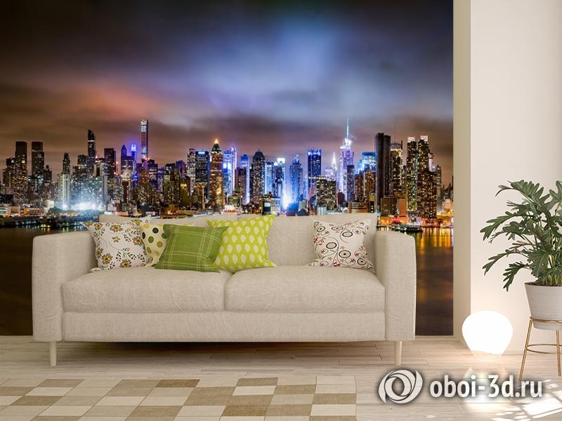 3D Фотообои «Ночной город» вид 11