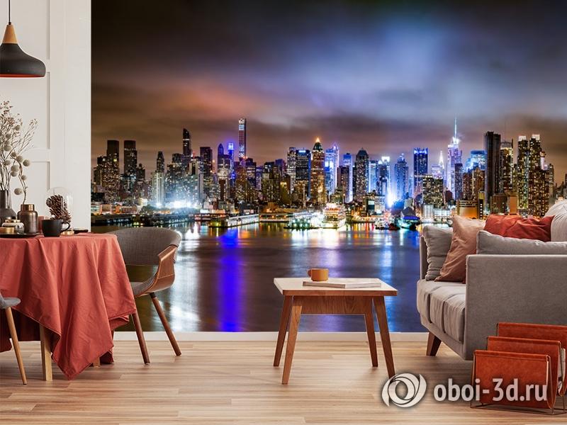 3D Фотообои «Ночной город» вид 10