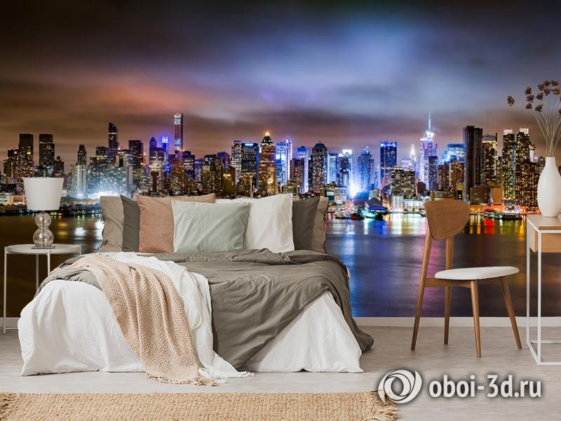 3D Фотообои «Ночной город» вид 6