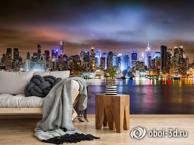 3D Фотообои «Ночной город» вид 5