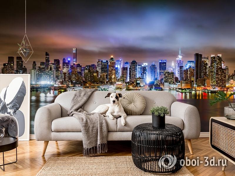 3D Фотообои «Ночной город» вид 4