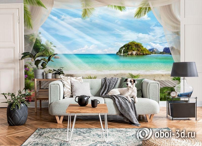 3D Фотообои «На берегу океана» вид 6