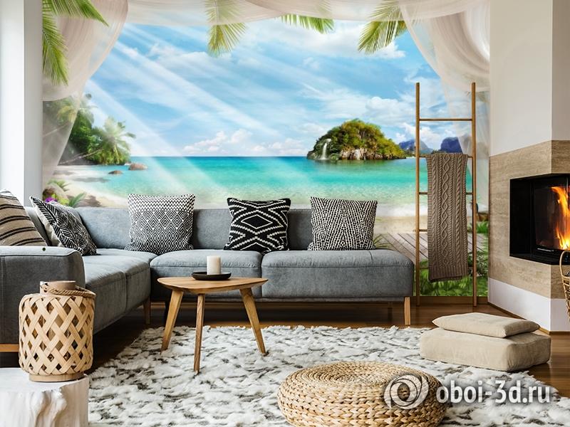 3D Фотообои «На берегу океана» вид 5