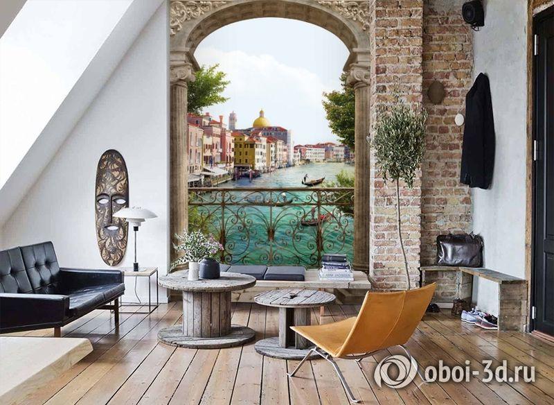 3D Фотообои «Вид на Венецианский канал» вид 7