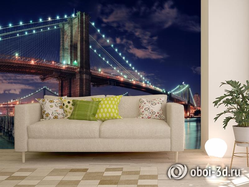 3D Фотообои «Бруклинский мост» вид 11