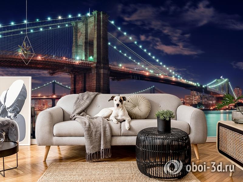 3D Фотообои «Бруклинский мост» вид 4