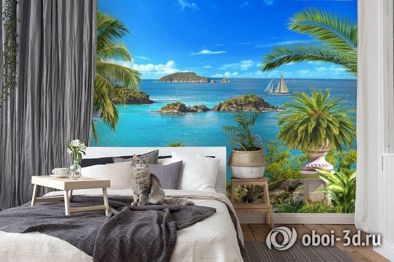 3D Фотообои «Остров в океане» вид 7