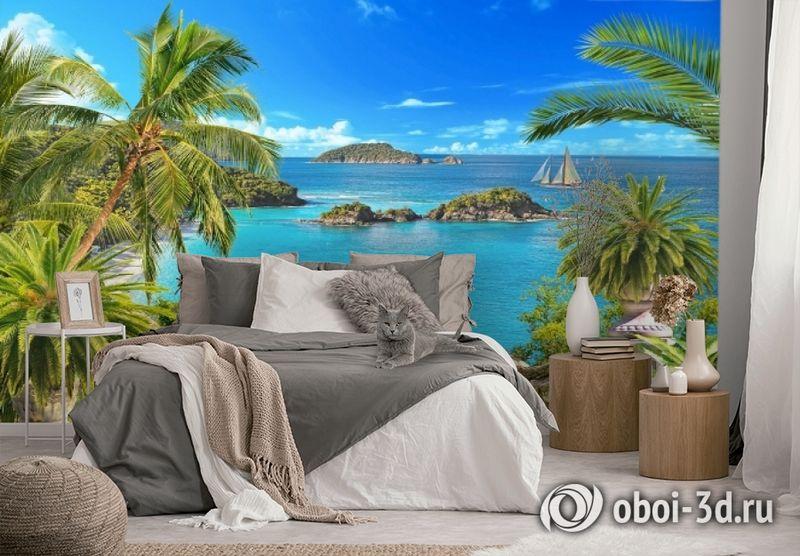 3D Фотообои «Остров в океане» вид 2