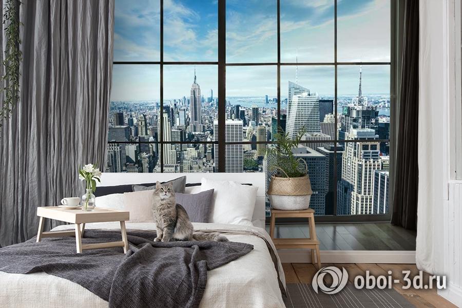 3D Фотообои «Вид из окна на современный город» вид 7