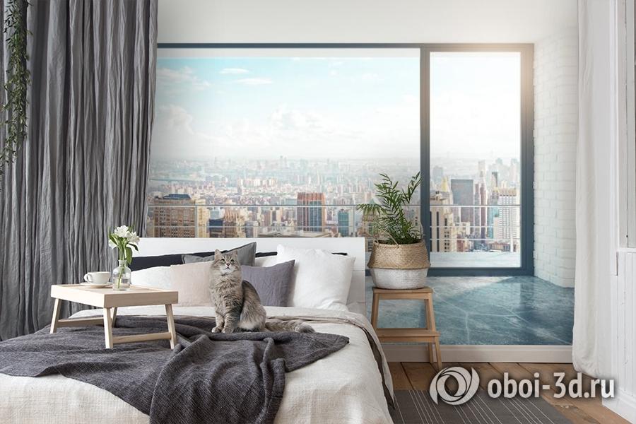3D Фотообои «Вид из окна на солнечный день в городе» вид 7