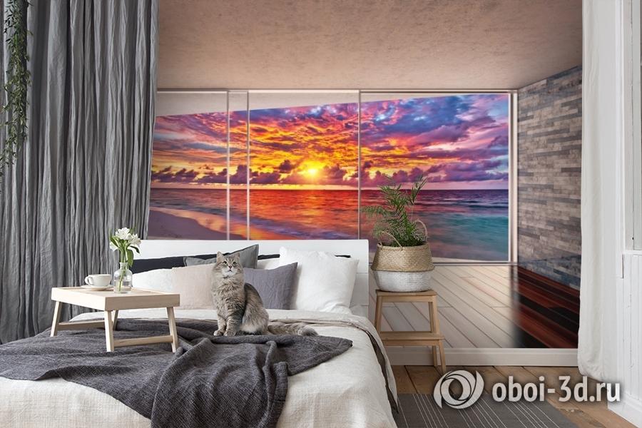 3D Фотообои «Вид с террасы на закат» вид 7