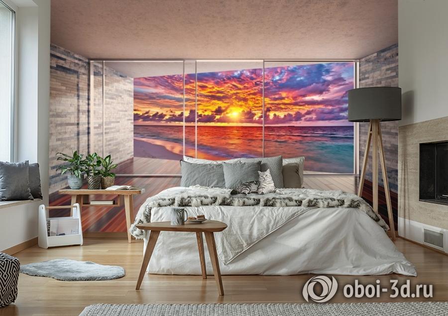 3D Фотообои «Вид с террасы на закат» вид 6