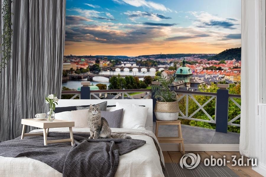 3D Фотообои «Балкончик где-то в Европе» вид 7
