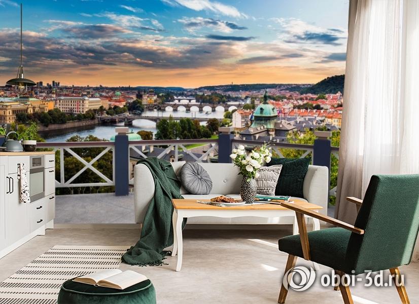 3D Фотообои «Балкончик где-то в Европе» вид 4