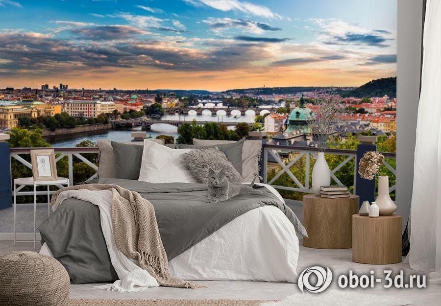 3D Фотообои «Балкончик где-то в Европе» вид 3