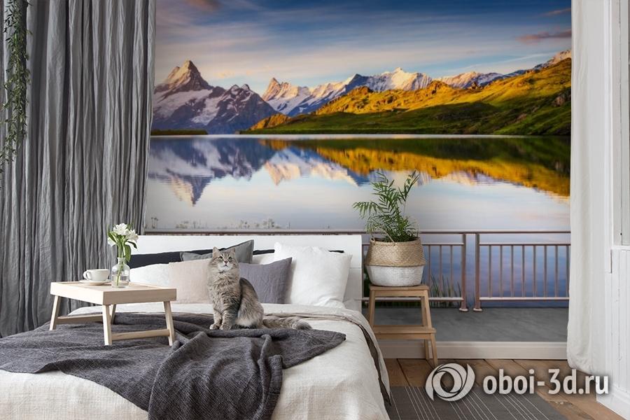 3D Фотообои «Терраса перед горным озером» вид 7