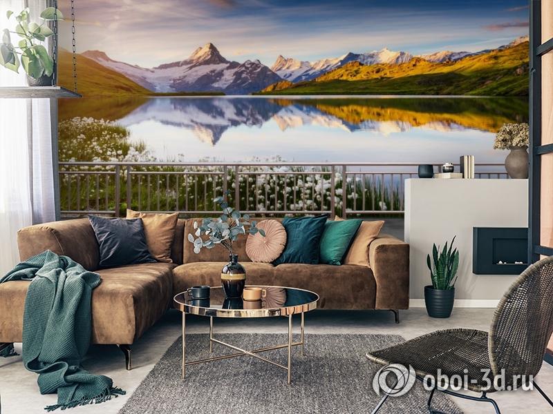 3D Фотообои «Терраса перед горным озером» вид 2