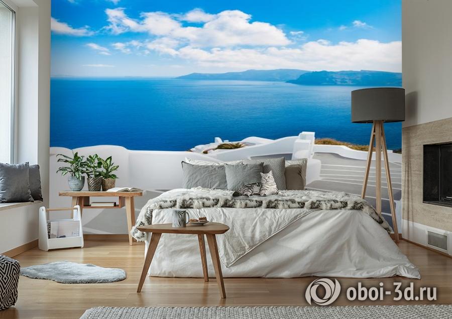 3D Фотообои «Белая лестница. Санторини» вид 6