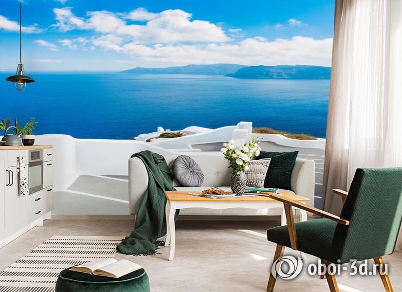 3D Фотообои «Белая лестница. Санторини» вид 4