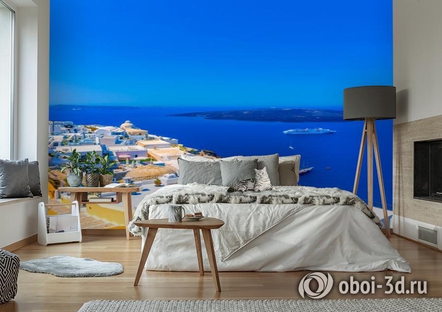 3D Фотообои «Вид с балкона на Санторини» вид 6