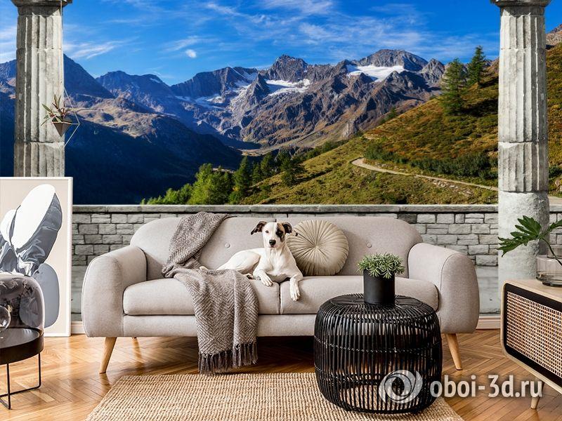 3D Фотообои «Вид на горные вершины» вид 5